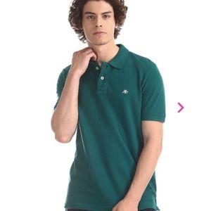 Aeropostale Green Pique Polo Shirt